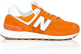 New Balance Women's 574 Suede & Mesh Sneakers-Orange