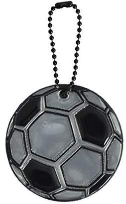 Glimmis (グリミス) - グリミス Glimmis フットボール ブラック BK 北欧 リフレクター 反射 キーホルダー 再帰反射素材 3M