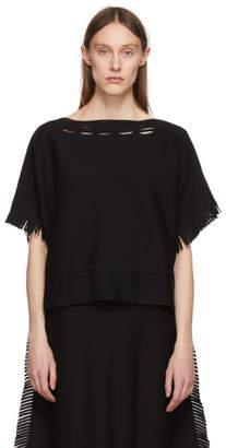 Issey Miyake Black Fringe Sweater