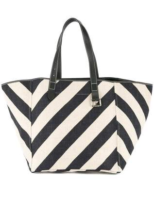 J.W.Anderson striped Shopping tote