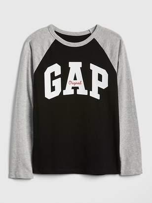 Gap Logo Raglan Long Sleeve T-Shirt