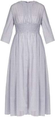 Emilia Wickstead Madeleine floral-print smocked-waist dress