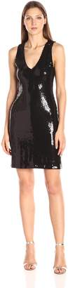 Karen Kane Women's V-Neck Sequin Sheath Dress