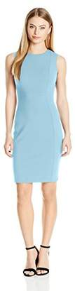 Calvin Klein Women's Petite Sleeveless Scuba Crepe Sheath Dress