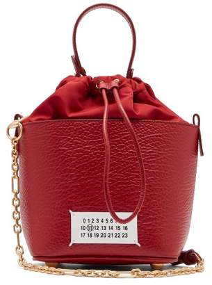 Maison Margiela 5ac Grained Leather Bucket Bag - Womens - Red