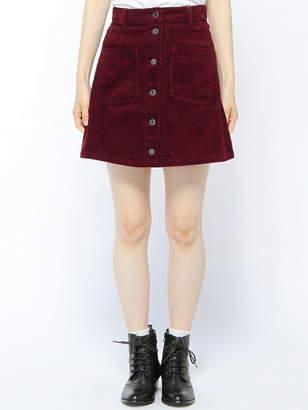 BROWNY STANDARD (ブラウニー スタンダード) - BROWNY STANDARD BROWNY STANDARD/(L)前ボタンコーデュロイミニスカート ウィゴー スカート
