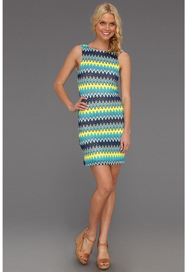 Type Z Kaylen Print Dress (Blue Multi) - Apparel