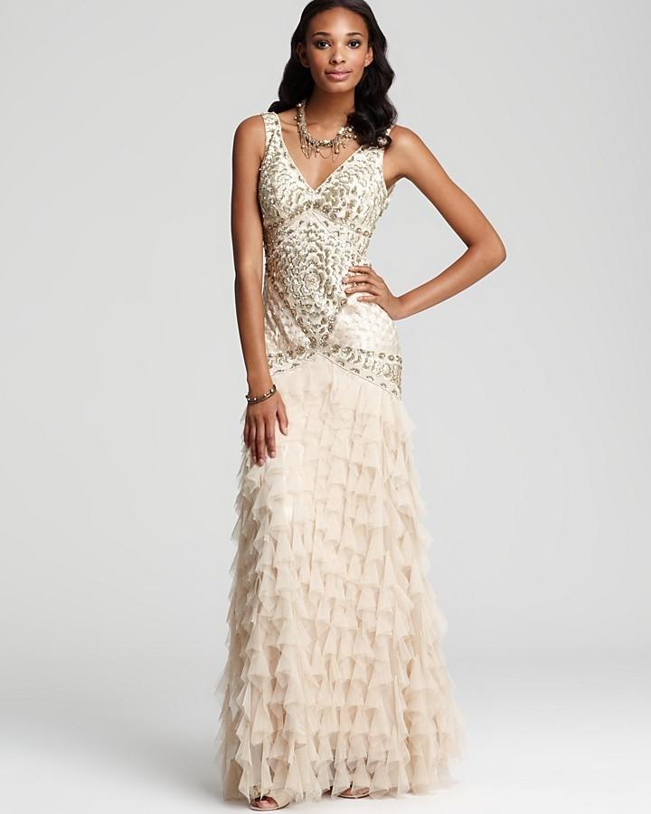 Quelle robe couleur champagne pr f rez vous popsugar for Sue wong robes de mariage