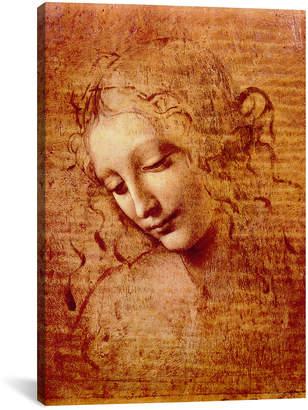 Leonardo icanvasart Female Head By Da Vinci