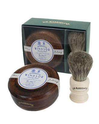 Co D. R. Harris & Windsor Mahogany Gift Set (Bowl + Brush)