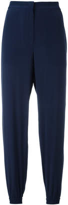 Cédric Charlier elasticated cuffs cropped trousers