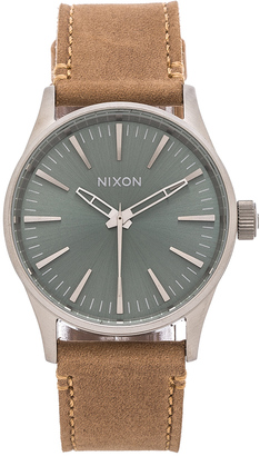 Nixon The Sentry 38 Leather $150 thestylecure.com