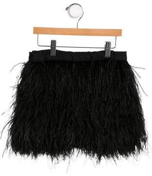Milly Minis Girls' Feather-Tiered Skirt