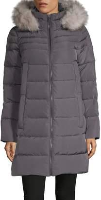 DKNY Walker Faux Fur Hooded Down Parka