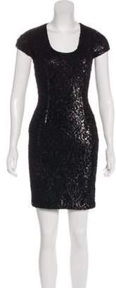 Just Cavalli Sequined Mini Dress Black Sequined Mini Dress