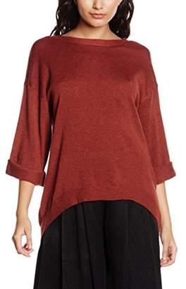 MinkPink Women's Start Over V Neck Knit Plain 3/4 Sleeve Tops,(Manufacturer Size:Small)