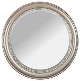 "Alpine Art & Mirror Camile 36"" Round, Beveled Glass, Champagne Wall Mirror"