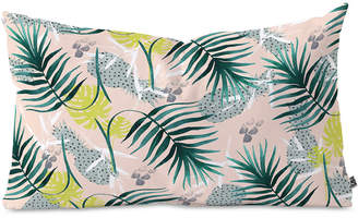 Deny Designs Marta Barragan Camarasa Tropical Leaf & Pineapple Oblong Throw Pillow