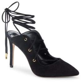 BCBGeneration Hayes Suede Lace-Up Pumps