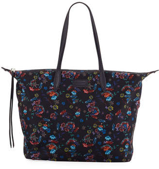 Rebecca Minkoff Washed Floral Nylon Tote Bag