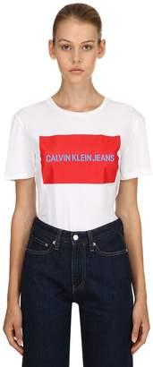 Calvin Klein Jeans Logo Printed Cotton Jersey T-Shirt