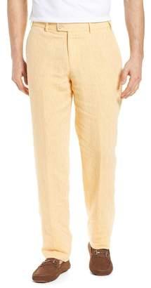 Hiltl Parma Flat Front Solid Linen Trousers