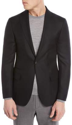 Z Zegna Textured Wool-Silk Blazer