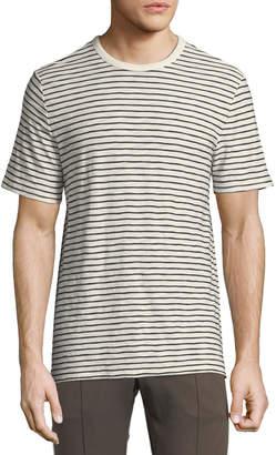 Vince Men's Reverse Striped Pima Crewneck T-Shirt