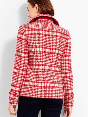 Talbots Trail Plaid Peacoat