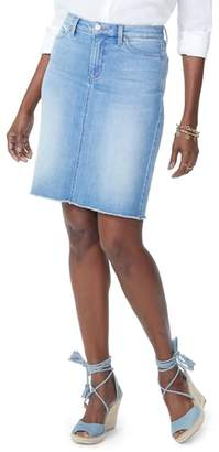 NYDJ Frayed Hem Denim Skirt