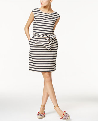 Weekend Max Mara Stella Striped Belted Dress $450 thestylecure.com