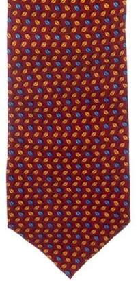 Tiffany & Co. Leaf Print Silk Tie