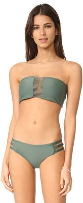 MIKOH Sunset Triple Loop Bandeau Bikini Top $112 thestylecure.com