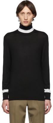 Neil Barrett Black Wool Knit Turtleneck