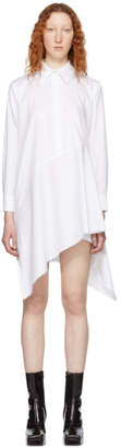 Marques Almeida White Asymmetric Shirt Dress