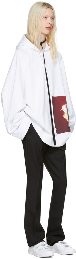 Raf Simons White Robert Mapplethorpe Edition Oversized Calla Lily Hoodie 3