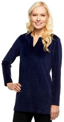 Susan Graver Velour Long Sleeve V-neck Tunic