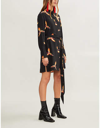 Diane von Furstenberg Tie-front silk shirt dress