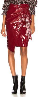 Isabel Marant Eoji Skirt in Burgundy | FWRD