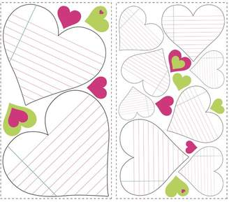 HeArts Dry Erase Peel & Stick Wall Decals