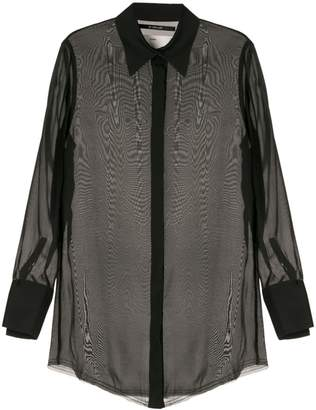 Song For The Mute sheer blouse