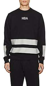 Hood by Air MEN'S LOGO STRIPED COTTON TERRY SWEATSHIRT - BLACK SIZE XL