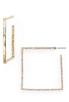 Leith Square Crystal Hoop Earrings
