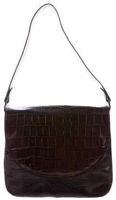 Robert Clergerie Embossed Leather Shoulder Bag