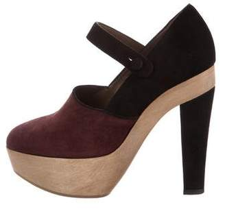 Marni Suede Mary Jane Pumps