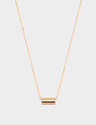 ginette_ny Mini Straw 18-karat rose gold necklace