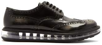 Prada Bubble Midsole Leather Brogues - Mens - Grey