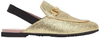 Gucci Horsebit Glittered Mules