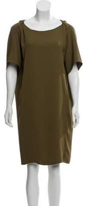 Maison Margiela Knee-Length Shift Dress Green Knee-Length Shift Dress