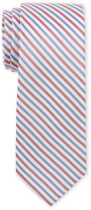 Tommy Hilfiger Stripe Seersucker Slim Silk Tie